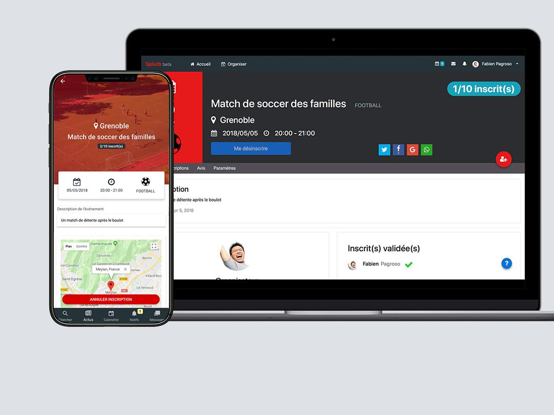 Splurb Réseau Social De Sport, Web Et Mobile